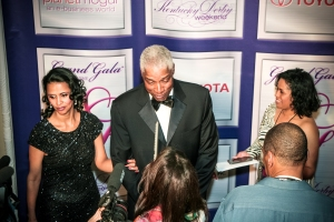 "On the ""Purple Carpet"" at the Grand Gala"