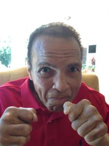Muhammad Ali released this updated photo on Twitter 3-20-15 Cheering on the Louisville Cardinals.  He also sent a statement to the Prince of Wales who was visiting Louisville.