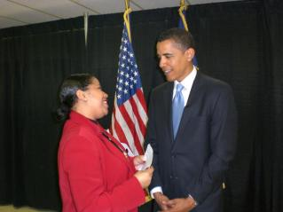Sherlene Shanklin with President Barack Obama