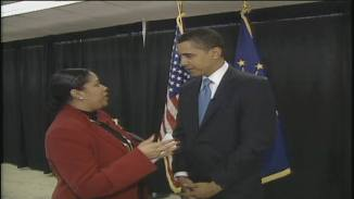 Sherlene Shanklin and President Barack Obama